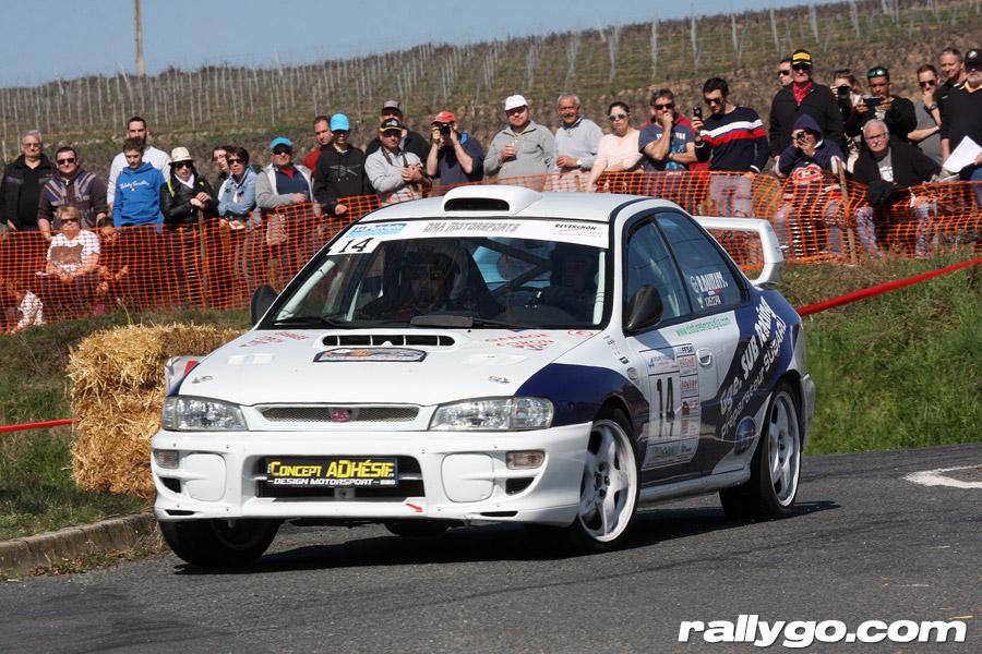 Rallye des Vignes de Régnié 2019 - # 14 - Subaru Impreza GT Turbo [1AA]