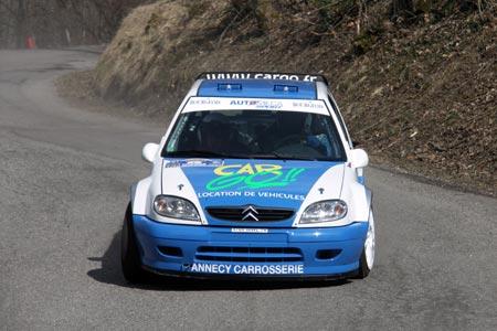Photo Rallye du Pays de Faverges 2005 - #  1 - Citroën Saxo S1600 [1AA]